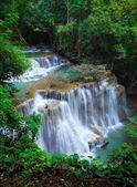 Deep forest Waterfall, Kanchanaburi, Thailand — Stock Photo