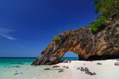 Ko Khai nature stone arch,Lipe,Thailand — Stock Photo