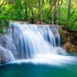 Deep forest Waterfall in Kanchanaburi, Thailand — Stock Photo #9940049