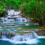 Deep forest Waterfall in Kanchanaburi, Thailand — Stock Photo #9940087