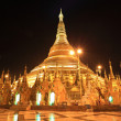Shwedagon pagoda at night, Rangon,Myanmar — Stock Photo #9940200