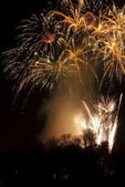 Fireworks at fireshow — Stock Photo