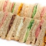 Buffet sandwich platter — Stock Photo