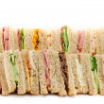 A Platter of Triangular Sandwiches — Stock Photo