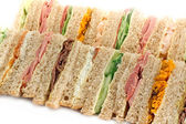 Buffet sandwich platter — Stock Photo