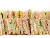 A Platter of Triangular Sandwiches — Stock Photo