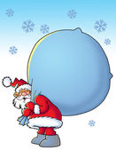Santa with a sac — Stock Photo
