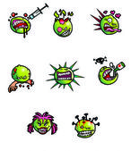 Cartoon viruses — Stock Photo