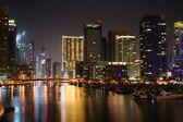 Night scene at Dubai Marina, United Arab Emirates — Stock Photo