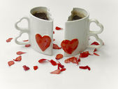 Amore tazze di caffè — Foto Stock