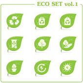 Vector ecology icon set. Vol. 1 — Stock Vector