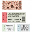 Vector set tickets — Stock Vector