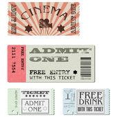 Vettore imposta biglietti — Vettoriale Stock