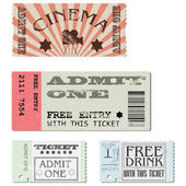 Vector set tickets — Stock Vector