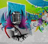 Grunge 音乐会海报 — 图库矢量图片