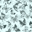 Royalty-Free Stock Vector Image: Seamless pattern with butterflies