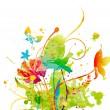 akvarell floral bakgrund — Stockvektor