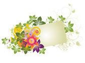 Grunge floral frame — Stock vektor