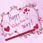 Doodles valentine background — Stock Vector