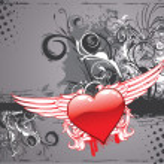 Grunge valentine background — Stock Vector