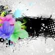 Royalty-Free Stock Vectorielle: Colorful floral background