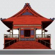 Stock Vector: Japanese temple