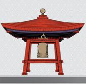 Japanese bell shelter — Stock Vector