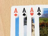 покер ди асси — Стоковое фото