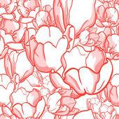 Tulip pattern — Stok Vektör