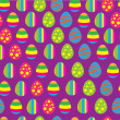 Stock Vector: Easter eggs pattern