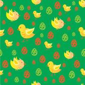 Easter chicken pattern — Stock Vector