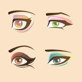 Beautiful eyes set — Stock Vector