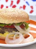 Domácí hamburger — Stock fotografie
