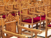 Chairs in a church — Stock Photo