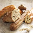 Different kinds of bread — Stock Photo