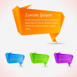 Abstract speech bubbles. Cool origami — Stock Vector