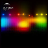 Abstract colorful equalizer — Stock Vector