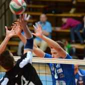 Kaposvar - kecskemet volleyball game — Stock Photo