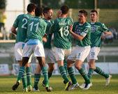 Kaposvar - jeu de football de Pécs — Photo