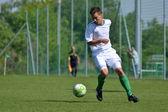 Kaposvar - Siofok under 16 soccer game — Stock Photo