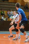 Kaposvar - Kazincbarcika volleyball game — Stock Photo