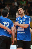 Kaposvar - Kazincbarcika volleyball game — Stock Photo