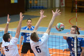 Kaposvar - Kazincbarcika volleyball game — Foto Stock