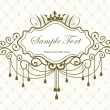 Luxury vintage frame ver. 4 - Stock Vector