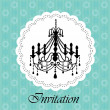 Luxury chandelier background ver. 3 — Stock Vector