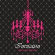 Stock Vector: Luxury chandelier background ver. 1