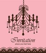 Luxury chandelier background ver. 2 — Stock Vector