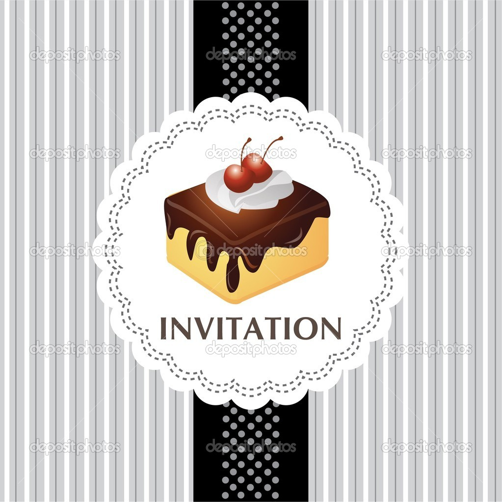 Vintage Cake Design Vector : Vintage card with cake 04   Stock Vector ? catherinechin ...