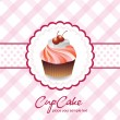 Stock Vector: Vintage card with cupcake 05