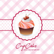 Royalty-Free Stock Imagen vectorial: Vintage card with cupcake 05